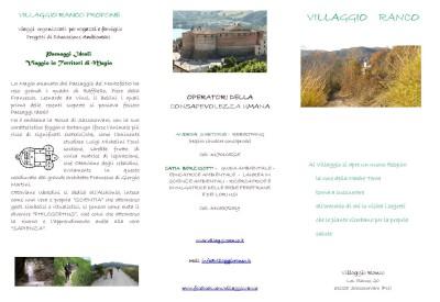 Volantino ufficiale Villaggio Ranco NUOVO