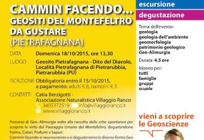 095 PIETRARUBBIA PU Cammin facendo Geositi del Montefeltro da gustare Pietrafagnana