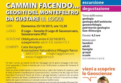 096 SASSOCORVARO PU Cammin facendo Geositi del Montefeltro da degustare Il Logo